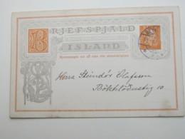 1906 , Ganzsache Aus Reykjavik - Entiers Postaux