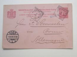 1896 ,   SRAGEN , Briefkaart  Nach Duitsland - Nederlands-Indië