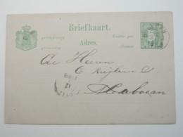 1888 ,   BINAJEN , Briefkaart - Niederländisch-Indien