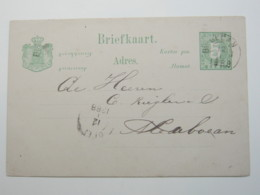 1888 ,   BINAJEN , Briefkaart - Nederlands-Indië