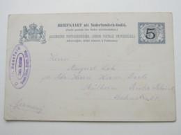1904 ,    , Briefkaart  Ogae Adoe  Nach Duitsland - Nederlands-Indië