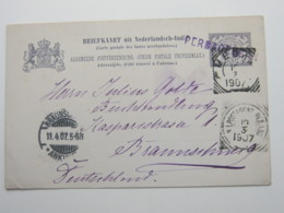 1907 ,  PERBAOEBGEN  , Briefkaart   Nach Duitsland - Nederlands-Indië