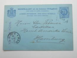 1898  , Briefkaart   Nach Duitsland - Curaçao, Nederlandse Antillen, Aruba