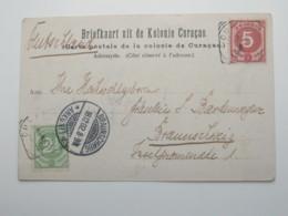 1902  , Briefkaart   Nach Duitsland - Curaçao, Nederlandse Antillen, Aruba