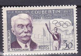 N°1088 60ème Anniversaire De La Rénovation Des J.O Par Le Baron P De Couibertin:1 Timbre Neuf Impeccable Sans Charnière - Unused Stamps