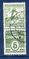 DENMARK 1937 Hanssen Fund 5+5 Øre + 5 Øre Se-tenant Pair, Used. Michel 234+198 - Used Stamps