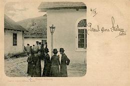 Synagoge LEMBERG - Juden Vor Der Synagoge I-II Synagogue - Jewish