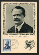 CARTE PREMIER JOUR JEAN BAPTISTE LEBAS  19 5 1957 ROUBAIX - 1950-59