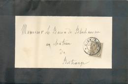 2c. ADOLPHE Obl. Dc DIEKIRCH Sur Faire-part De Deuil (NICOLAS REDING) Le 22-6-1900 Vers Bitrange (ex-KIPPENHOF). - 13491 - 1895 Adolphe Profil