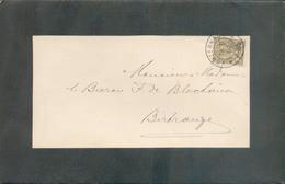 2c. ADOLPHE Obl. Dc ECHTERNACH Sur Faire-part De Deuil (BECKER BALDAUFF) Le 19-11-1900 Vers Bitrange  - 13492 - 1895 Adolphe Right-hand Side