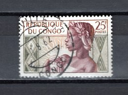 CONGO   N° 135  OBLITERE  COTE  0.30€  FEMME  ANNIVERSAIRE DE LE REPUBLIQUE - Congo - Brazzaville