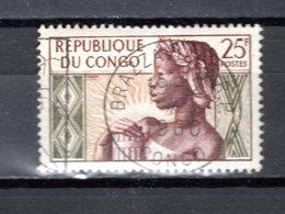 CONGO   N° 135  OBLITERE  COTE  0.30€  FEMME  ANNIVERSAIRE DE LE REPUBLIQUE - Oblitérés