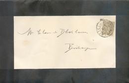 2c. ADOLPHE Obl. Dc ETTELBRUCK  Sur Faire-part De Deuil (Guillaume HARTMANN Goedert) Le 31-07-1900 Vers Birtrange  - 134 - 1895 Adolphe Right-hand Side