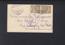 Luxemburg Kleinbrief 1915 Nach Elsass - Poststempel - Freistempel