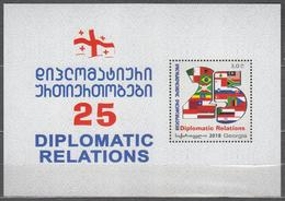 Georgia 2018 Mi# Bl 84 (726) 25th Anniversary Of Diplomatic Relations 2018 * * - Georgia