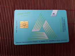 Phonecard Andorra Snake Used Only 10.000 EX Made Used Rare - Andorre