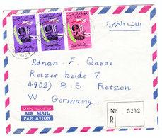 LAR Libya REGISTERED AIRMAIL COVER TO Germany 1971 - Libya