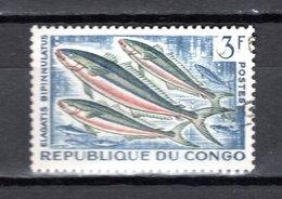 CONGO   N° 145  OBLITERE  COTE  0.30€   POISSON  ANIMAUX - Congo - Brazzaville