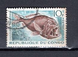 CONGO   N° 147  OBLITERE  COTE  0.45€   POISSON  ANIMAUX - Congo - Brazzaville