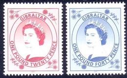 Gibraltar  2001 Yvertn° 977-978 *** MNH  Cote 13,00 Euro Reine Elizabeth II Queen Elisabeth II - Gibraltar