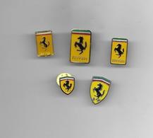 5 PIN'S LOGO FERRARI - Ferrari