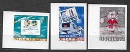 #150A# LIBERIA MICHEL 725/727B MNH**. SPACE. KENNEDY. - Liberia