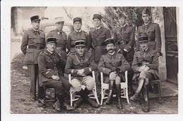 CARTE PHOTO Groupe De Militaires - Personnages