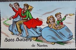 Carte Postale Bons Baisers De NANTES 44 Loire Atlantique SCOOTER Ecrite - Greetings From...