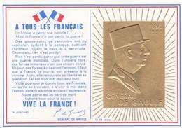 FRANCE FDC GENERAL DE GAULLE OR 24 CARATS / 2 - De Gaulle (General)