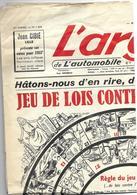 Jeu De Lois Contre L'automobile - Argus Du 3 Janvier 1957 - Non Classés
