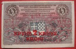 1/2 / 0,5 Dinara / Dinars 2 Krune / Kroni Overprint 1919 (WPM 14a) - Jugoslawien