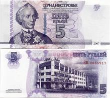 TRANSNISTRIA       5 Rublej       P-43b       2007 / 2012      UNC - Banconote
