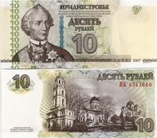 TRANSNISTRIA       10 Rublej       P-44b       2007 / 2012      UNC - Banconote