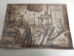 1870 PEDO' GAETANO ANTIQUE PRINT CONVENTO MONACI. TIMBRO A SECCO: VIA SISTINA 131 ROMA - Persone Identificate