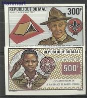 Mali 1982 MNH ( ZS5 MLI913-914B ) - Scoutismo