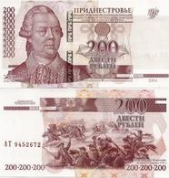 TRANSNISTRIA       200 Rublej       P-40c       2004 / 2012      UNC - Banconote