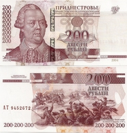 TRANSNISTRIA       200 Rublej       P-40c       2004 / 2012      UNC - Altri – Europa