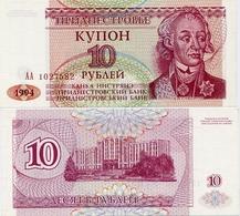 TRANSNISTRIA       10 Rublej       P-18       1994      UNC - Banconote