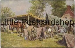 AK Lager Einer Munitionskolonne Gemälde Von Paul Hey 1917 Wohlfahrtskarte Stempel Gevelsberg - Guerre 1914-18
