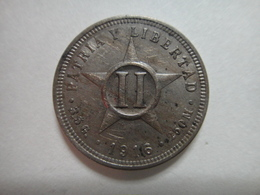 CUBA 2 Centavos 1916 Almost Uncirculated-50 - Cuba