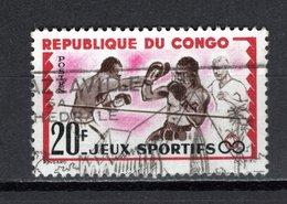 CONGO   N° 150  OBLITERE  COTE  0.30€  SPORT BOXE - Congo - Brazzaville