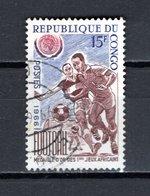 CONGO   N° 195  OBLITERE  COTE  0.50€   FOOTBALL - Oblitérés