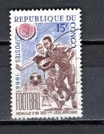CONGO   N° 195  OBLITERE  COTE  0.50€   FOOTBALL - Congo - Brazzaville