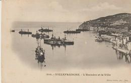 C. P. A. - VILLEFRANCHE - L'ESCADRE ET LA VILLE - GILETTA - PRÉCURSEUR - 304 - Villefranche-sur-Mer
