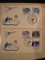 Enveloppes Premier Jour - JO De Squaw Valley 1960 - Série D'URSS N° 2258 à 2262 - Invierno 1960: Squaw Valley