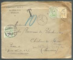 Belgique Lettre Affr. N°137(2) - Obl. Sc IXELLES 1 ELSENE Sur Lettre Dy 16-X-1919 Vers Le Chateau De Stave (arrivée 17-X - Postage Due