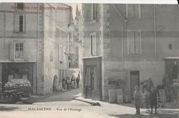 CPA 84 MALAUCENE  VUE DE L'HORLOGE   ANIMEE PUB BISCUIT GEORGES - Malaucene