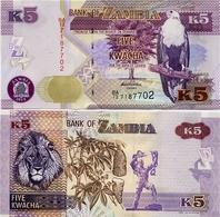 ZAMBIA       5 Kwacha       P-50a       2012       UNC - Zambie