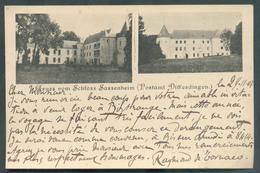 C.P. Aus Gruss Vom Schloss SASSENHEIM (Postamt DIFFERDINGEN) Chateau Le 24-11-1907 Vers Bitrange - 13503 - Differdingen