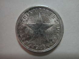 CUBA 10 Centavos 1916 (KEY DATE) MS-60 (Uncirculated) 90% SILVER 0.07233 ASW Only 560,000 Minted! - Cuba